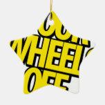 Cuatro ruedas del engranaje adorno de navidad