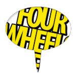 Cuatro ruedas del engranaje figura para tarta