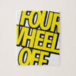 Cuatro ruedas del engranaje rompecabeza con fotos