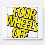 Cuatro ruedas del engranaje tapetes de ratón