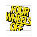 Cuatro ruedas del engranaje tarjeta postal