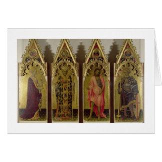 Cuatro santos del Quaratesi Polyptych: Mag de Mari Tarjeta De Felicitación