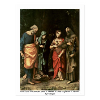 Cuatro santos tarjetas postales