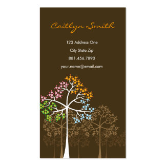 Cuatro tarjetas de visita del arbolado de la natur