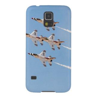 Cuatro Thunderbirds F-16 vuelan en la formación Carcasa De Galaxy S5