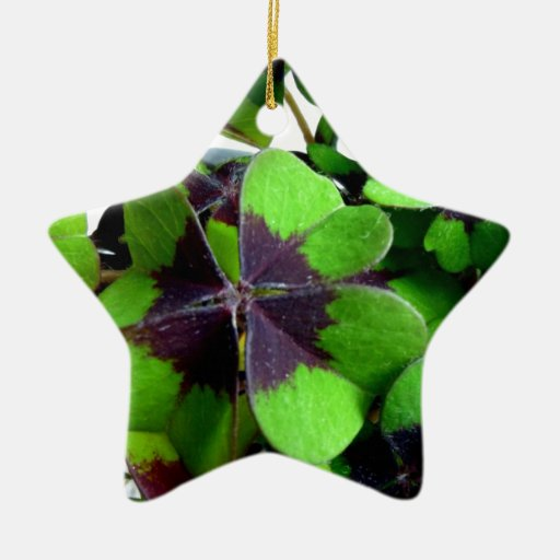 Cuatro trébol St Patrick del trébol de la hoja afo Ornaments Para Arbol De Navidad