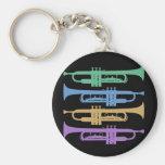 Cuatro trompetas llaveros