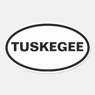 CUATRO Tuskegee, Alabama Pegatina Ovalada