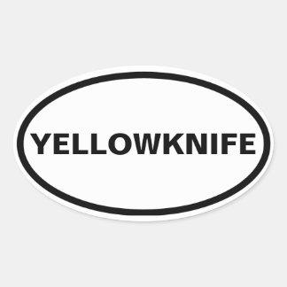 CUATRO Yellowknife Pegatina Ovalada