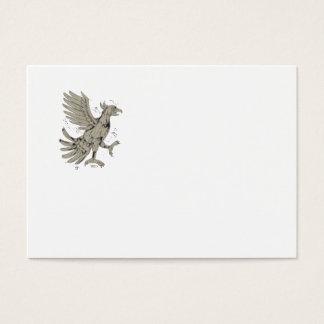 Cuauhtli Glifo Eagle Symbol Low Polygon Business Card