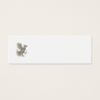 Cuauhtli Glifo Eagle Symbol Low Polygon Mini Business Card
