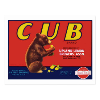 Cub Brand Lemons Postcard