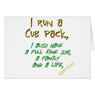 cub leader green greeting card