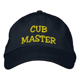 CUB MASTER EMBROIDERED BASEBALL HAT
