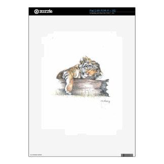 Cub sleeping decals for iPad 2