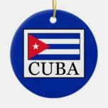 Cuba Adorno Navideño Redondo De Cerámica