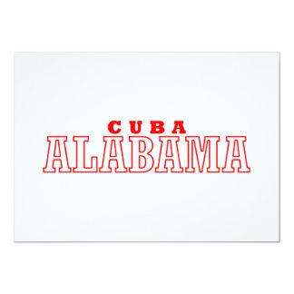 Cuba, Alabama City Design Personalized Invitation