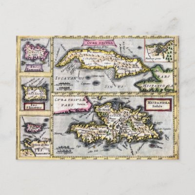 map of cuba and jamaica. Cuba and Hispaniola Antique