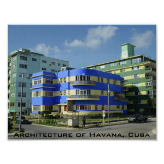 Cuba: Art Deco Architecture Poster