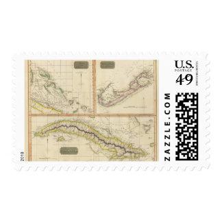 Cuba, Bahama I, Bermudas Stamps