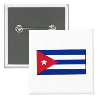 Cuba - bandera cubana pin cuadrada 5 cm