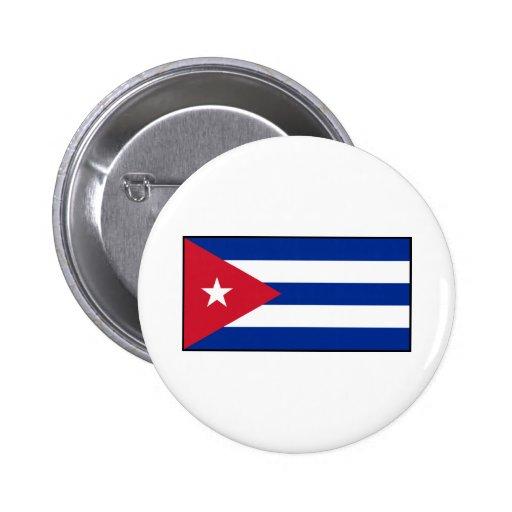 Cuba - bandera cubana pin redondo 5 cm
