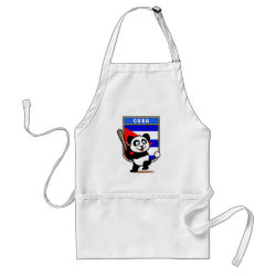 Apron with Cuba Baseball Panda design