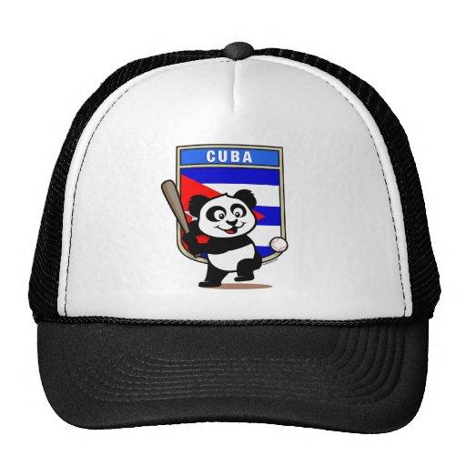 cuba baseball panda mesh hats zazzle