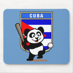 Mousepad with Cuba Baseball Panda design
