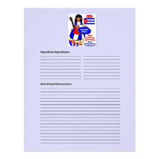 Cuba blank meat recipe cards