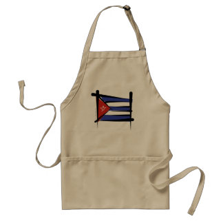 Cuba Brush Flag Adult Apron