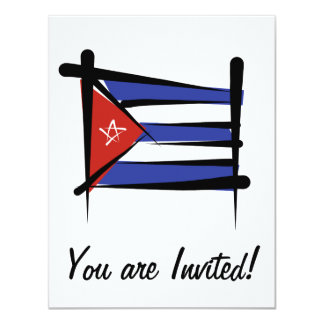Cuba Brush Flag Personalized Announcements