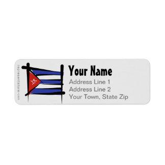 Cuba Brush Flag Label