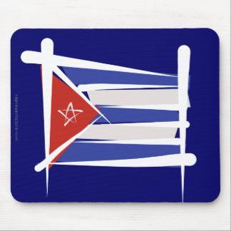 Cuba Brush Flag Mouse Pad