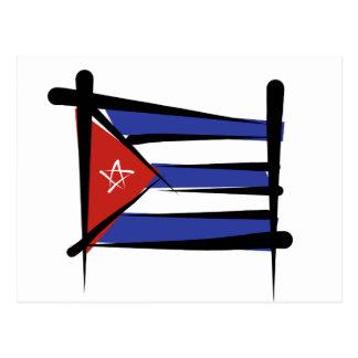 Cuba Brush Flag Postcard