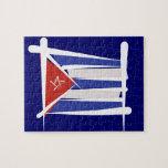 Cuba Brush Flag Puzzle