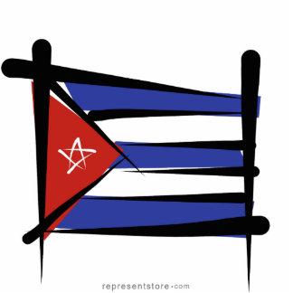 Cuba Brush Flag Statuette