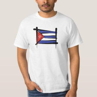 Cuba Brush Flag T Shirt