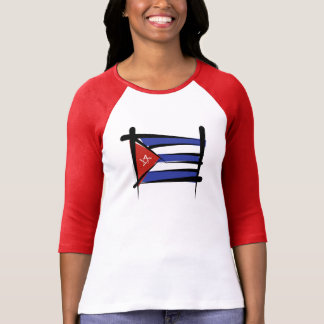 Cuba Brush Flag T-Shirt