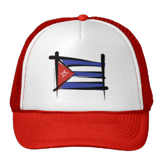 Cuba Brush Flag Trucker Hat