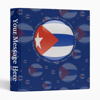 Cuba Bubble Flag 3 Ring Binder
