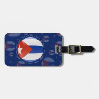 Cuba Bubble Flag Bag Tag