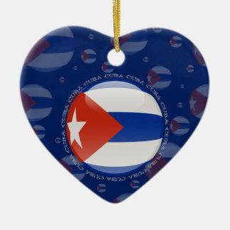 Cuba Bubble Flag Ceramic Ornament
