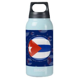 Cuba Bubble Flag Insulated Water Bottle