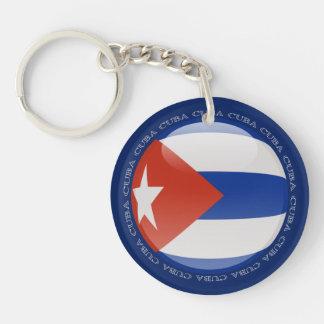 Cuba Bubble Flag Key Chains