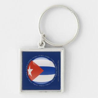 Cuba Bubble Flag Keychains