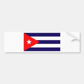 CUBA ETIQUETA DE PARACHOQUE
