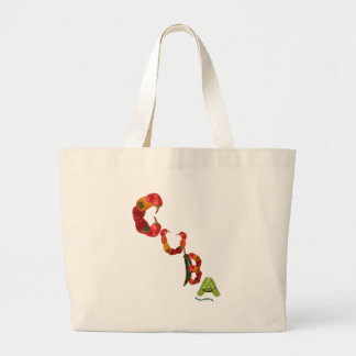 Cuba Chili Peppers Large Tote Bag