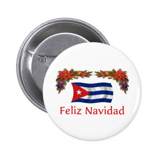 Cuba Christmas Button
