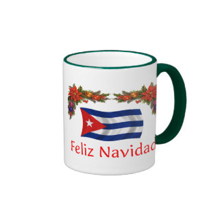 Cuba Christmas Ringer Mug
